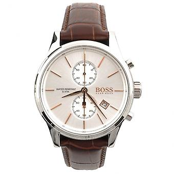 Hugo Boss 1513280 Brown Textured Leather Chronograph Jet Men's Watch