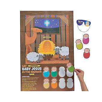Put Baby Jesus in the Manger Christmas Nativity Party Game