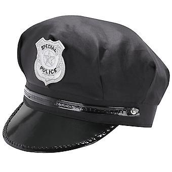 TRIXES negro novedad seguridad pico sombrero policía Cop disfraces tema Cap