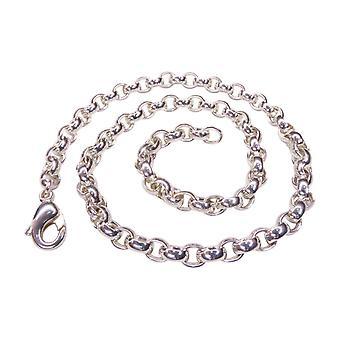 Silver jasseron oval necklace
