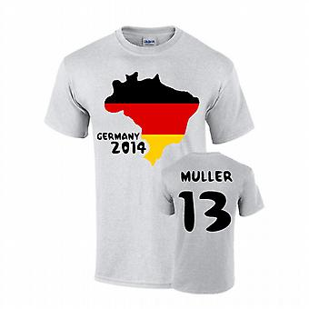Germania 2014 Country Flag t-shirt (muller 13)