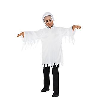 Fantasma disfraz, disfraces de Halloween infantil, pequeña y mediana edad 4-7