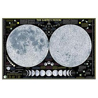 Earths Moon Laminated by National Geographic Maps
