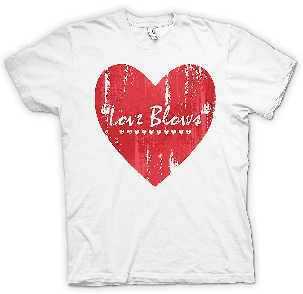 Mens T-shirt - Love Blows- Funny Valentines Day