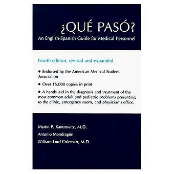 Paso?: una guida inglese-spagnolo per il personale medico