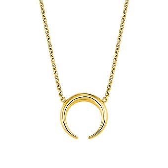 s.Oliver Jewel Damen Kette Halskette Silber goldfarben Büffelhorn 2024314