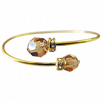 Inexpensive 18K Gold Plated Bangle Lite Colorado Crystal Cuff Bracelet
