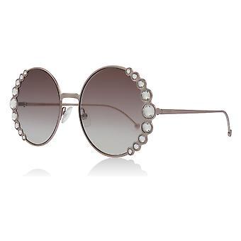 Fendi FF0324/S 35J Pink FF0324/S Round Sunglasses Lens Category 2 Size 58mm