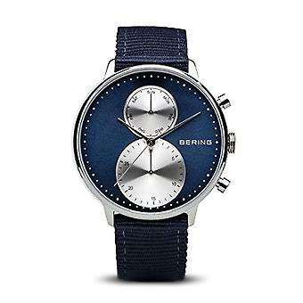 Bering watch chronograph quartz men with 13242-507 fabric strap