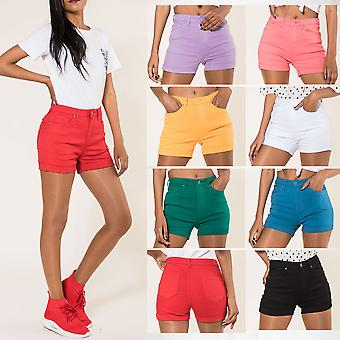 Women's Jeans Shorts Hot Pants Denim Casual Trousers Hipster Summer Unicolored