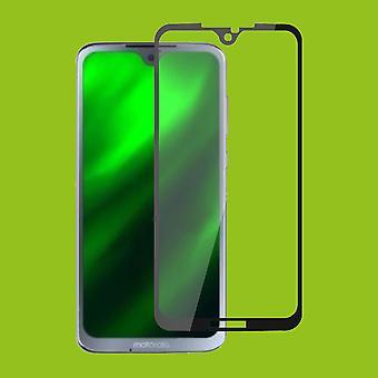 Für Motorola Moto G7 / G7 Plus 1x 3D Premium 0,3 mm H9 Hart Glas Schwarz Folie Schutz Hülle Neu