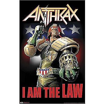 Anthrax I Am The Law large fabric poster / flag 1100mm x 750mm (rz)