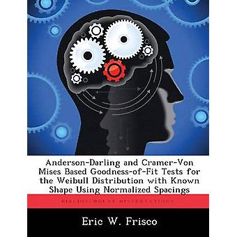 AndersonDarling and CramerVon Mises Based GoodnessofFit Tests for the Weibull Distribution with Known Shape Using Normalized Spacings by Frisco & Eric W.