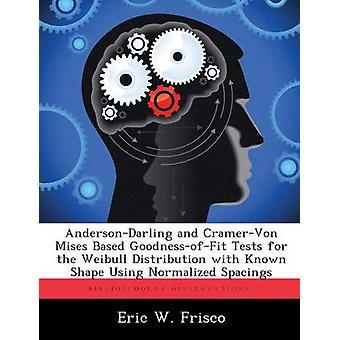 AndersonDarling e CramerVon Mises basato GoodnessofFit test per la distribuzione di Weibull con forma noto utilizzando normalizzate spaziature di Frisco & Eric W.