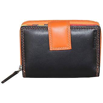 Rallegra vielfältig Wallet - Schwarz/Orange/rot