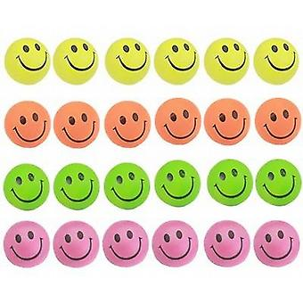 Spiel Bouncy Gummi-Kugeln 60mm 24/Pack - Smiley