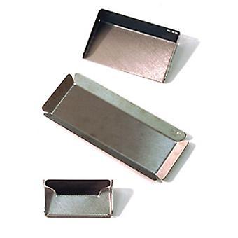 Memo - Stainless Steel Office Organiser Set / Pen Tray / Card Holder - Silver