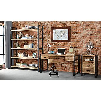 Maison Industrial Metal & Wood Large Open Bookcase