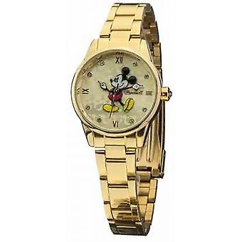 Disney By Ingersoll Womens Classic Gold PVD Plated Bracelet DIN005GDGD Watch