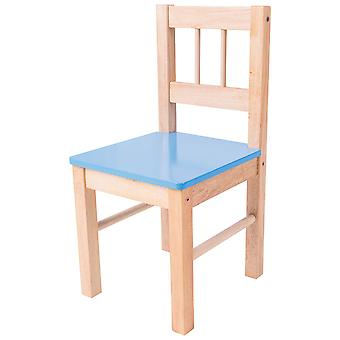 Bigjigs Toys Children's Wooden Blue Chair - Bedroom Furniture and Accessories