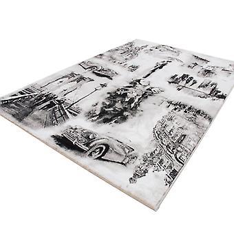 Rugs -Cultural - Silver & Grey
