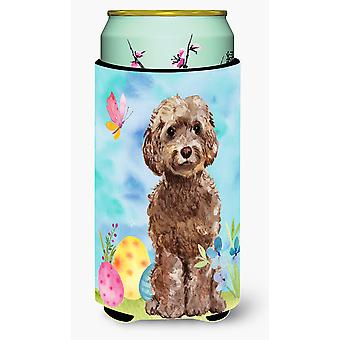 Brown Cockapoo Easter Tall Boy Beverage Insulator Hugger