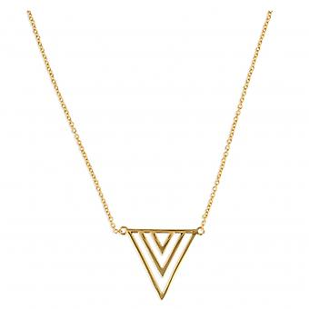 Collier Plaqué Or Triangle 45cm