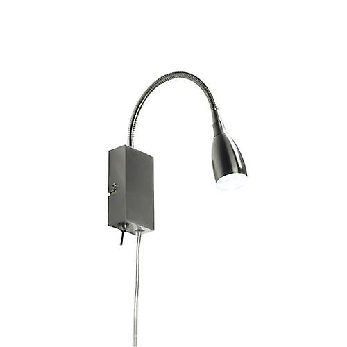 Dar UNO0746 Uno Led Flexi Reading Light Satin Chrome Plug In