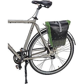 Vaude Aqua Back Print Single Rear Bike Pannier - Black/Green