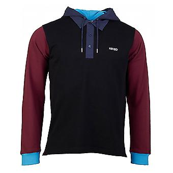 Kenzo Long Sleeved Colour Block Polo Sweat