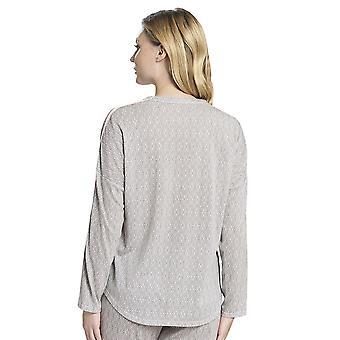 Rosch 1193702-16416 Women's Pure Off-White Oriental Flair Cotton Pyjama Top