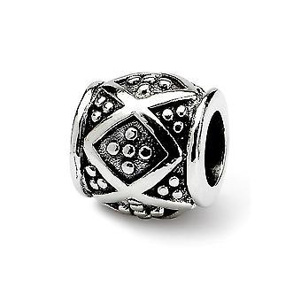 925 Sterling Argent Antique finition Réflexions SimStars Dots Bali Bead Charm