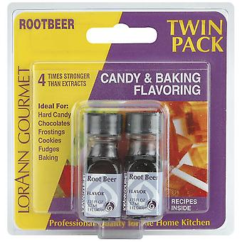 Candy & Baking Flavoring .125 Ounce Bottle 2 Pkg Rootbeer Flavor 340