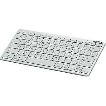 Bluetooth keyboard ednet Bluetooth® 3.0 Tastatur White
