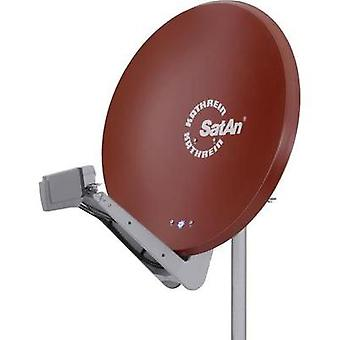 SAT antenna 90 cm Kathrein CAS 90ro Reflective material: Aluminium Red brown