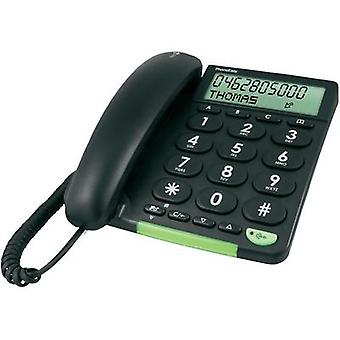 Corded Big Button doro Doro 312cs schwarz Visual call notification Matte Black