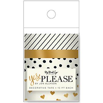 Yes, Please Decorative Tape Rolls- YES131