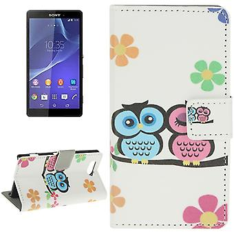 Mobile case bag for mobile phone Sony Xperia Z3 compact young owls pair