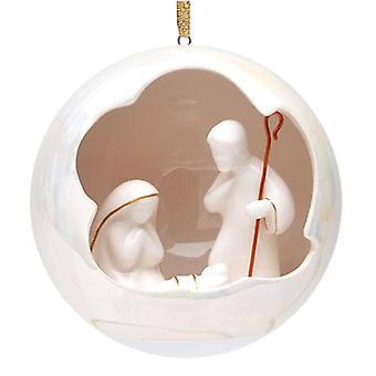 Hellige familie himmelske North Star juletræ Ornament porcelæn
