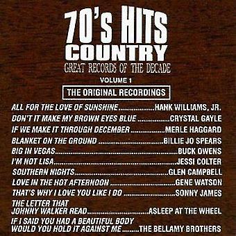 Importación de grandes registros de la década - años 70 Hits país n º 1 [CD] Estados Unidos