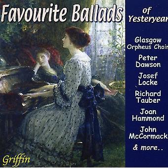Favorit ballader gårsdagens - favorit ballader af gårsdagens [CD] USA importerer