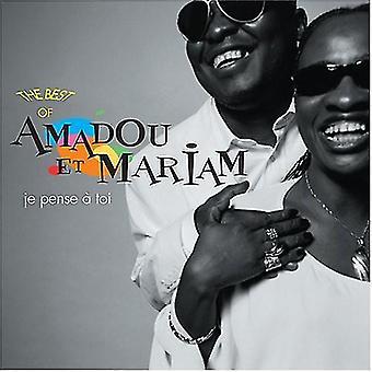 Amadou Et Mariam - Je Pense et Toi, (jeg tror af du): bedste af [CD] USA import