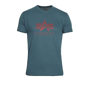 ALPHA INDUSTRIES Basic Petrol Blue Logo T-Shirt