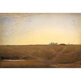 Joseph Mallord William Turner - Stonehenge Twilight Poster impressão giclée