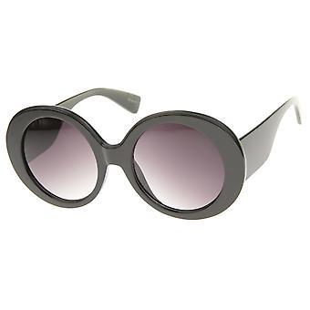 Kvinders High Fashion Glam Chunky runde Oversize solbriller 50mm