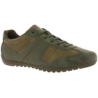 GEOX U GARLAN A men's leather sneaker Brown TÜV