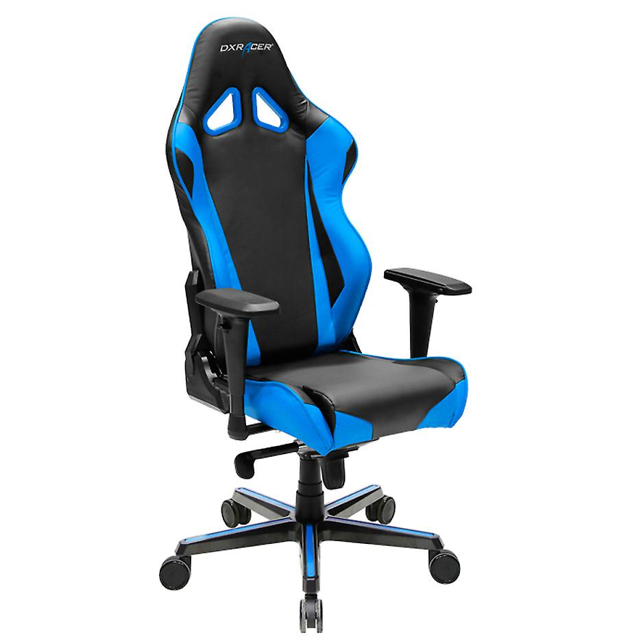 DX Racer DXRacer OH/RV001/NB High-Back Racing Style Office Chair Carbon Look Vinyl+PU(Black/Blue)