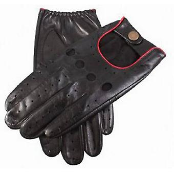 Dents Delta Leather Driving Handschoenen - Rood