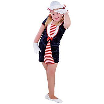 Bambini costumi marinaio ragazza blu