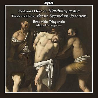 Clinio, Teodoro / Ensemble Triagonale - Johannes Heroldt : Matthauspassion - import USA Teodoro Clinio [CD]